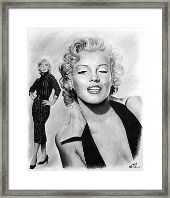 The Glamour Days Marilyn Monroe Framed Print by Andrew Read