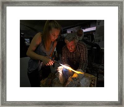 The Glass Blowers Framed Print by Paul Indigo