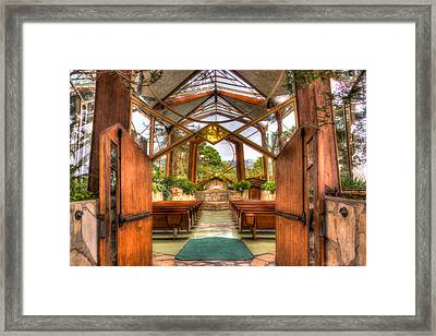 The Glass Church Framed Print