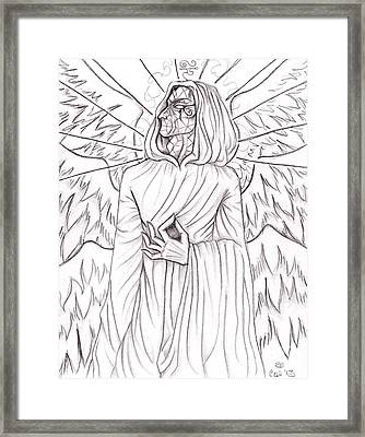 The Glass-faced Wizard Framed Print by Coriander  Shea