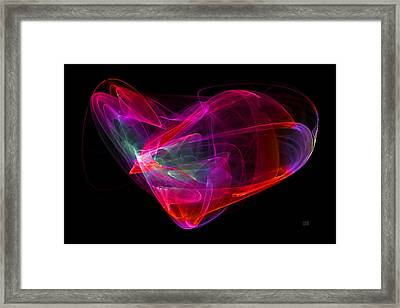 Framed Print featuring the digital art The Glass Heart by Menega Sabidussi