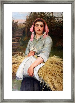 The Gleaner Framed Print by Charles Sillem Lidderdale