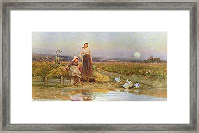 The Gleaners Framed Print by Thomas James Lloyd
