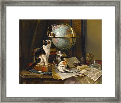 The Globertrotters Framed Print by Henriette Ronner-Knip