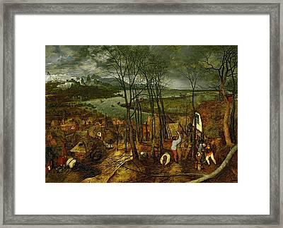 The Gloomy Day - Spring, 1559 Framed Print