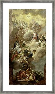 The Glorification Of Saint Dominic, Copy After Francesco Framed Print by Litz Collection