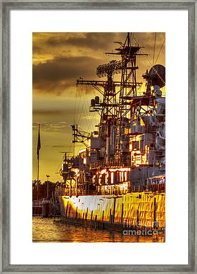 The Glory Days -  Uss Sullivans Framed Print