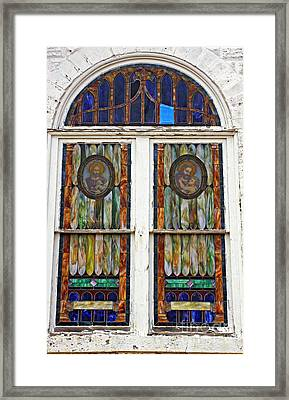 The Glory Of Stain Glass And Light Framed Print by Marcia Lee Jones