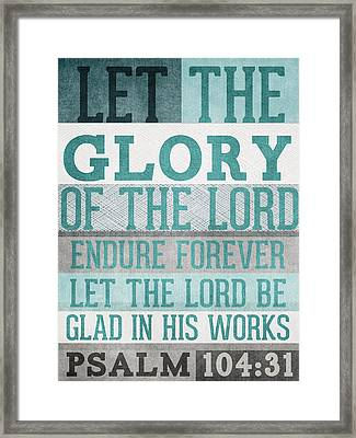 The Glory Of The Lord- Contemporary Christian Art Framed Print by Linda Woods