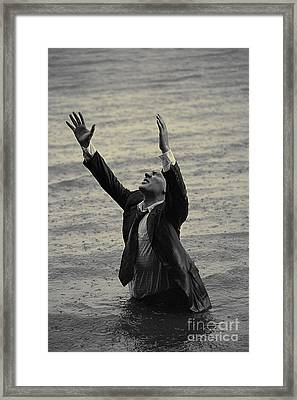 Framed Print featuring the pyrography The Glory Of The Rain by Evgeniy Lankin