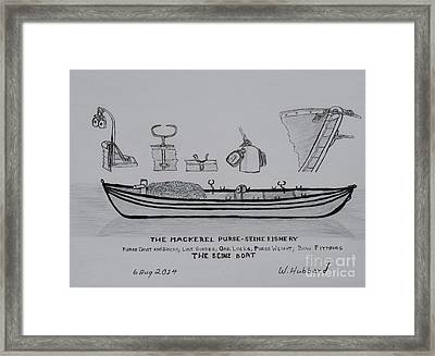The Gloucester Seine Boat Framed Print by Bill Hubbard