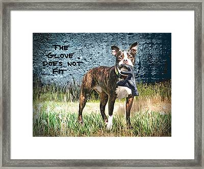 The Glove Framed Print