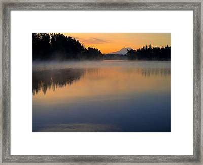The Glow At Dawn Framed Print