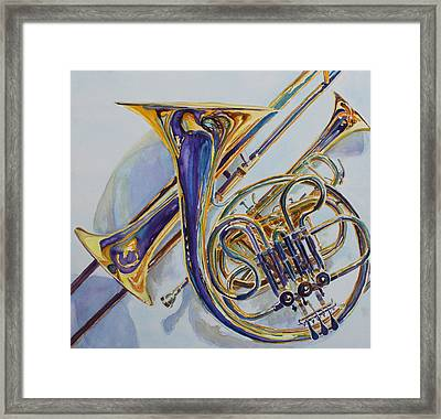The Glow Of Brass Framed Print