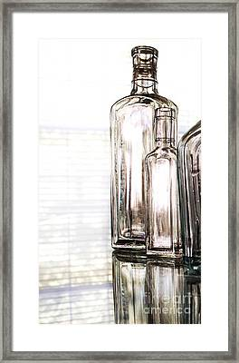 The Glow Of Glass Framed Print by Arlene Carmel
