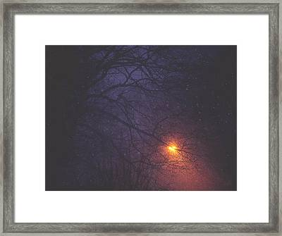 The Glow Of Snow Framed Print by Carrie Ann Grippo-Pike