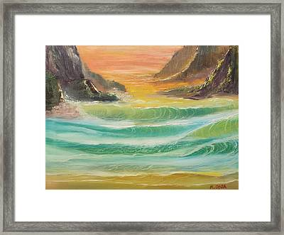 The Glow Of Sunset Framed Print
