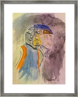The Goalie Framed Print by Desmond Raymond