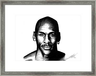 The Goat Michael Jordan Framed Print by Mike Sarda