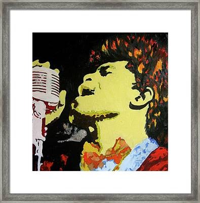 The God Father Of Soul James Brown Framed Print by Ronald Young