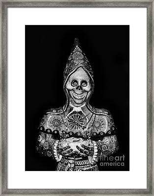 The God Of Death Awaits You - Voodoo Statue Framed Print by Lee Dos Santos