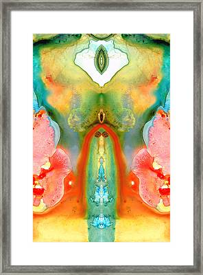 The Goddess - Abstract Art By Sharon Cummings Framed Print by Sharon Cummings