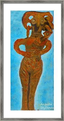 The Goddess Astarte.  Framed Print by Augusta Stylianou
