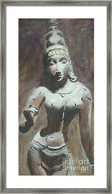 The Goddess Parvati Framed Print by Ann Radley
