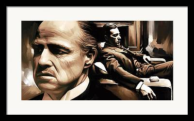 The Godfather Mixed Media Framed Prints