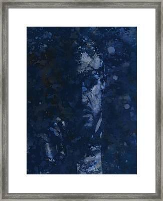 The Godfather Blue Splats Framed Print