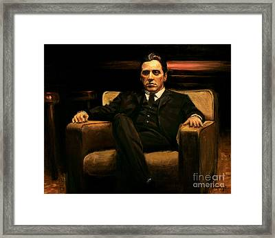 The Godfather Framed Print by Christopher Panza