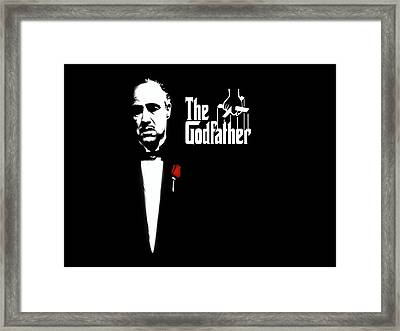 The Godfather Framed Print by Cool Canvas