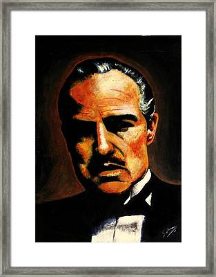 Godfather Framed Print by Salman Ravish