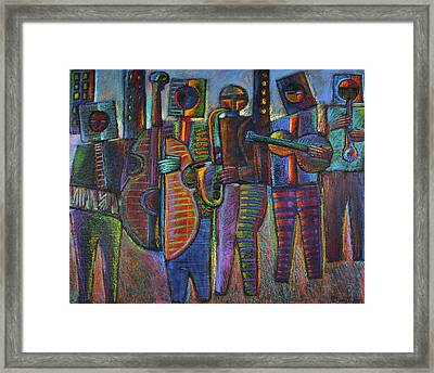 The Gods Of Music Come To New York Framed Print by Gerry High