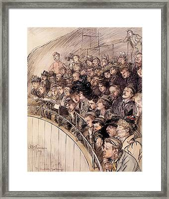The Gods, The Vaudeville Gallery, 1899 Framed Print by Hugh Thomson