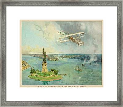 The 'gold Bug' Biplane  Designed Framed Print by Mary Evans Picture Library