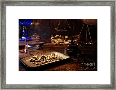 The Gold Trader Shop Framed Print