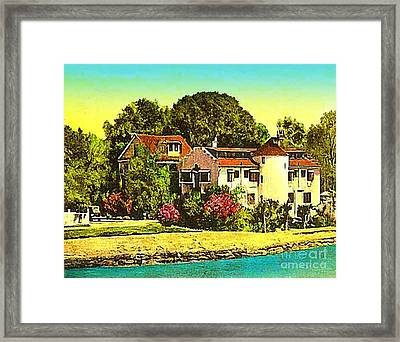 The Gold Eagle Tavern In Beaufort S C C.1910 Framed Print by Dwight Goss