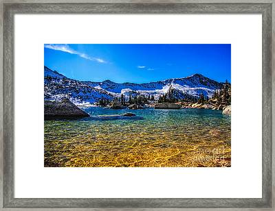 The Gold Lake Bottom Framed Print by Mitch Johanson