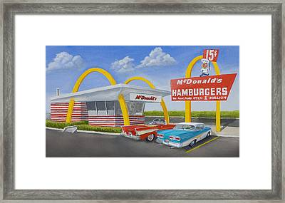 The Golden Age Of The Golden Arches Framed Print by Jerry McElroy