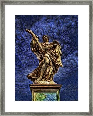 The Golden Angel Framed Print by Lee Dos Santos