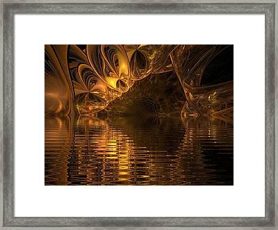 The Golden Cave Framed Print