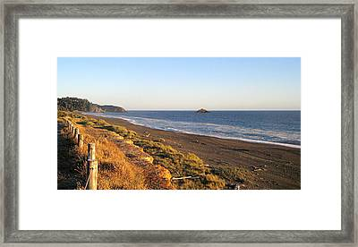 The Golden Coast Framed Print