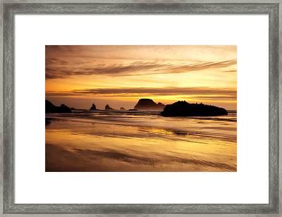 The Golden Coast Framed Print by Darren  White