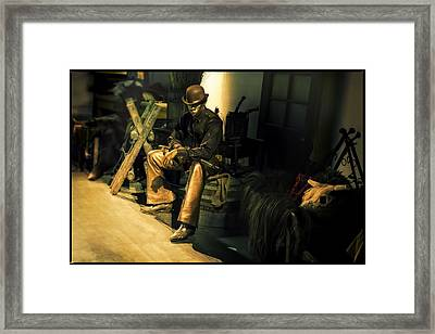 The Golden Cowboy Framed Print by Diane Dugas