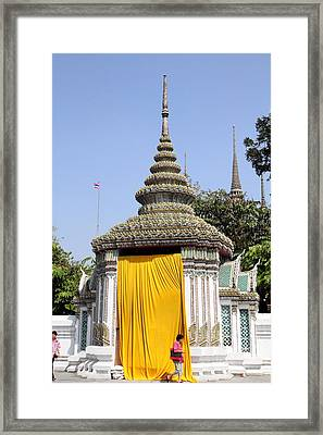 The Golden Curtain - Bangkok Thailand - 01131 Framed Print by DC Photographer