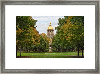 The Golden Dome Of Notre Dame Framed Print by John M Bailey