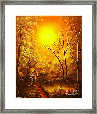 The Golden Dream-original Sold-buy Giclee Print Nr 31 Of Limited Edition Of 40 Prints  Framed Print by Eddie Michael Beck