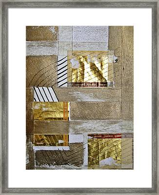 The Golden Fields Framed Print by Shirley Devon