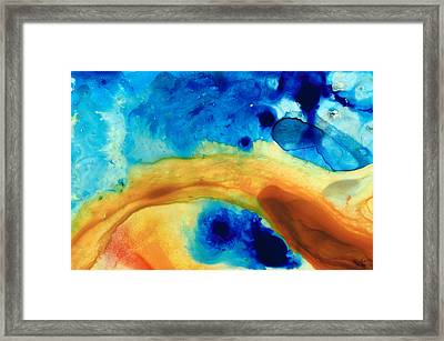 The Golden Gate - Abstract Art By Sharon Cummings Framed Print by Sharon Cummings